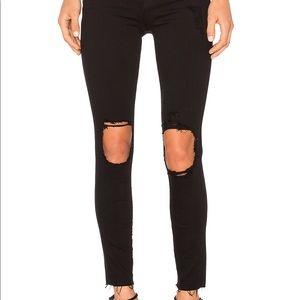 Frame Le Skinny De Jeanne Cropped Jean in Noir🖤
